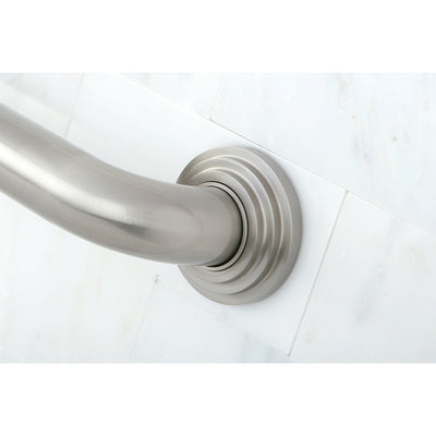 "Kingston Brass Grab Bars - Satin Nickel Milano 24"" Decorative Grab Bar DR214248"
