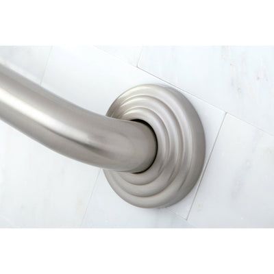"Kingston Grab Bars - Satin Nickel Traditional 24"" Decorative Grab Bar DR314248"