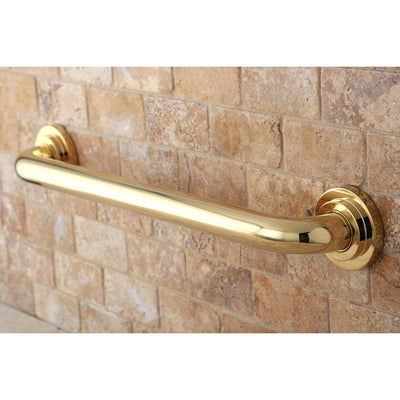 "Kingston Grab Bars - Polished Brass Manhattan 18"" Decorative Grab Bar DR414182"