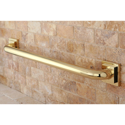 "Kingston Grab Bars - Polished Brass Claremont 24"" Decorative Grab Bar DR614242"