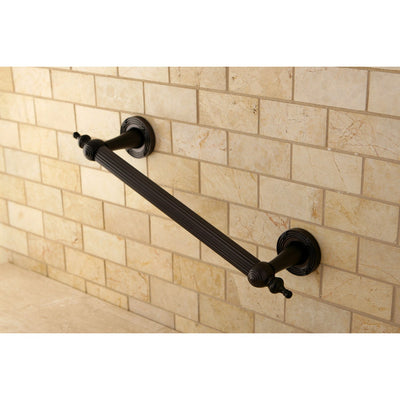"Kingston Oil Rubbed Bronze Templeton 12"" Grab Bar For Bathroom DR710125"