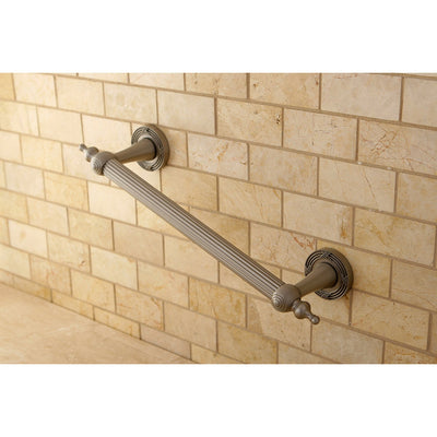 "Kingston Satin Nickel Templeton Grab Bar For Bathroom Or Shower: 12"" DR710128"