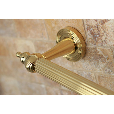 "Kingston Polished Brass Templeton Grab Bar For Bathroom Or Shower: 24"" DR710242"