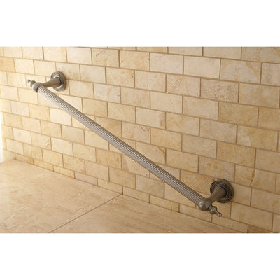 "Kingston Satin Nickel Templeton Grab Bar For Bathroom Or Shower: 24"" DR710248"