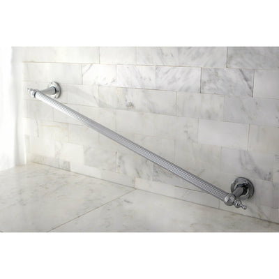 "Kingston Brass Chrome Templeton Grab Bar For Bathroom Or Shower: 30"" DR710301"