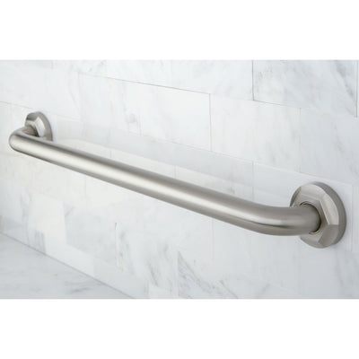 "Kingston Grab Bars - Satin Nickel Metropolitan 24"" Decorative Grab Bar DR714248"
