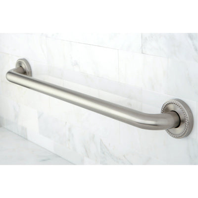 "Kingston Brass Grab Bars - Satin Nickel Regency 24"" Decorative Grab Bar DR814248"