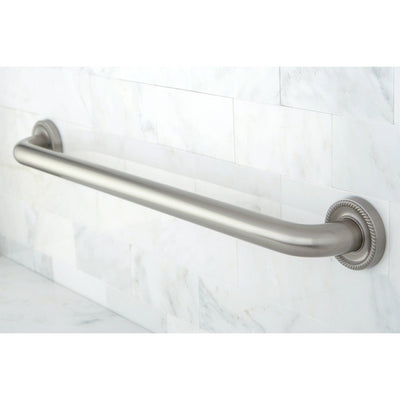 "Kingston Brass Grab Bars - Satin Nickel Camelon 24"" Decorative Grab Bar DR914248"