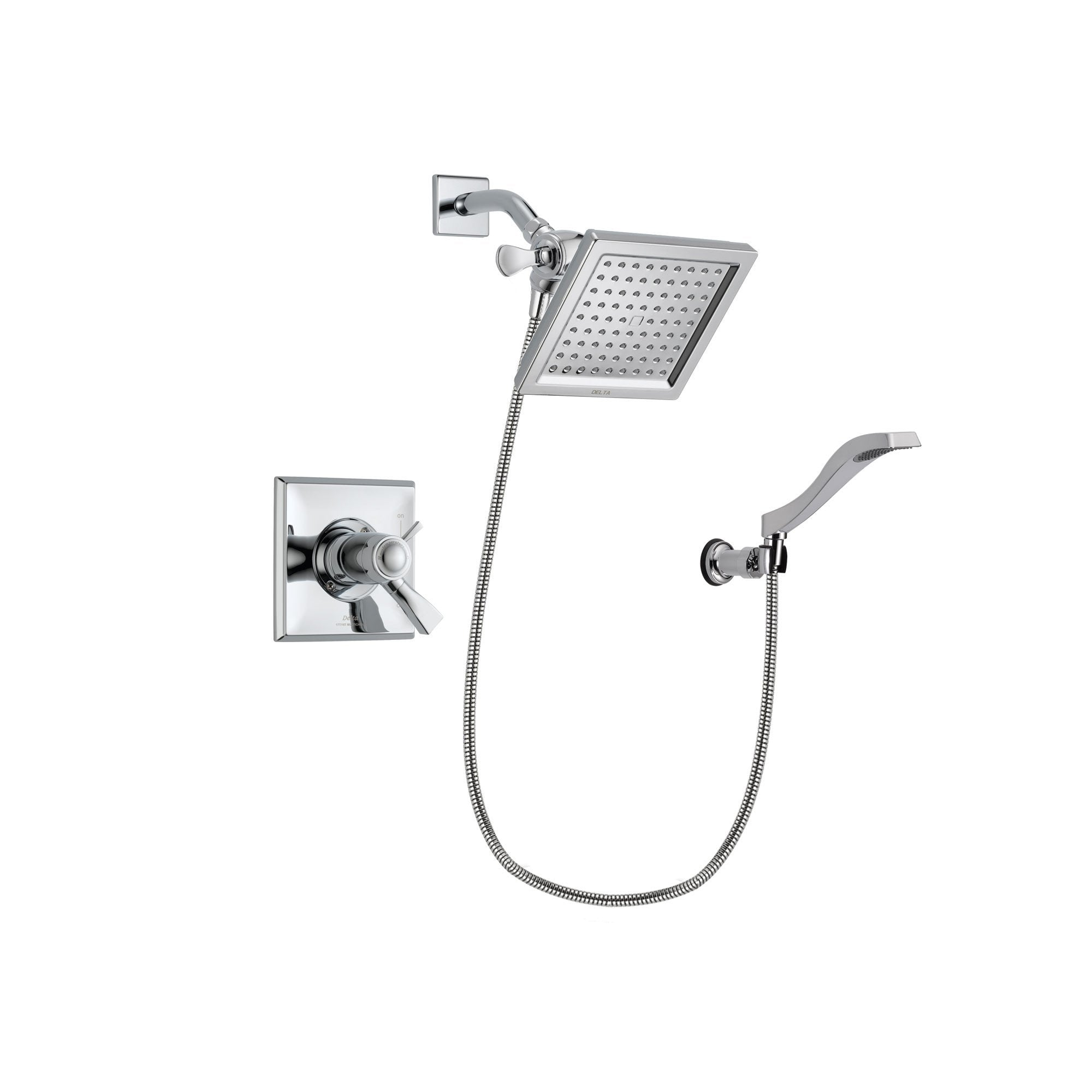 Delta Dryden Chrome Shower Faucet System w/ Shower Head and Hand Shower DSP0017V