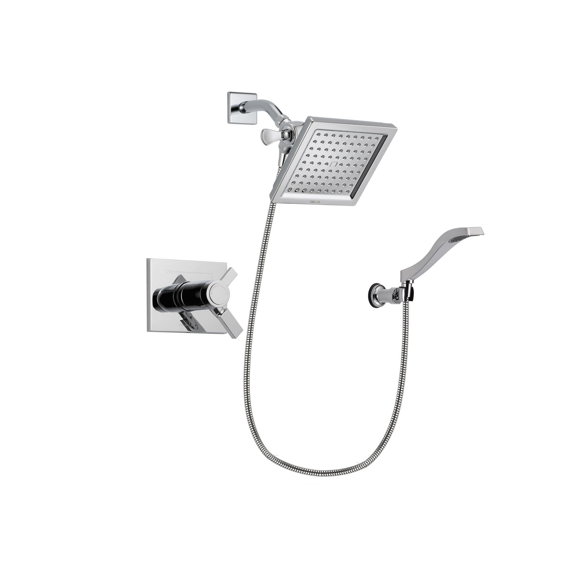 Delta Vero Chrome Shower Faucet System with Shower Head and Hand Shower DSP0020V