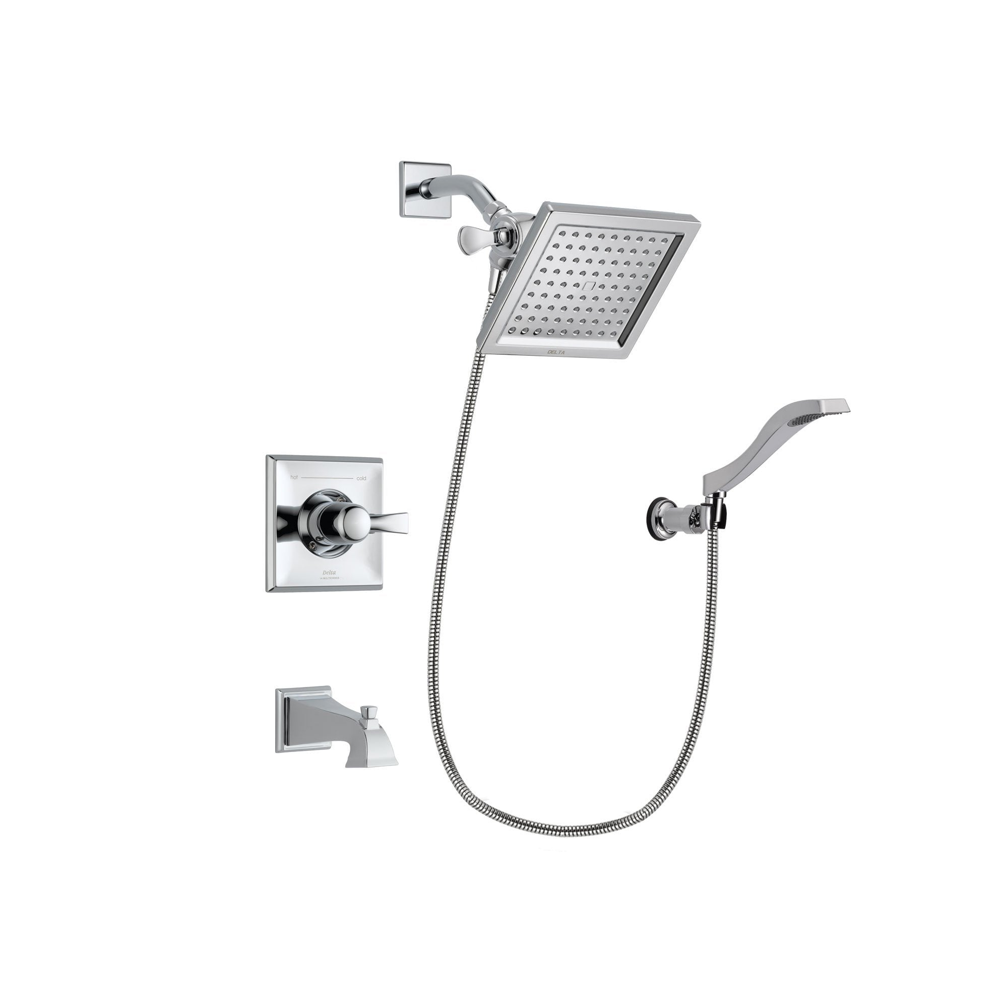 Delta Dryden Chrome Tub and Shower Faucet System Package w/ Hand Shower DSP0023V