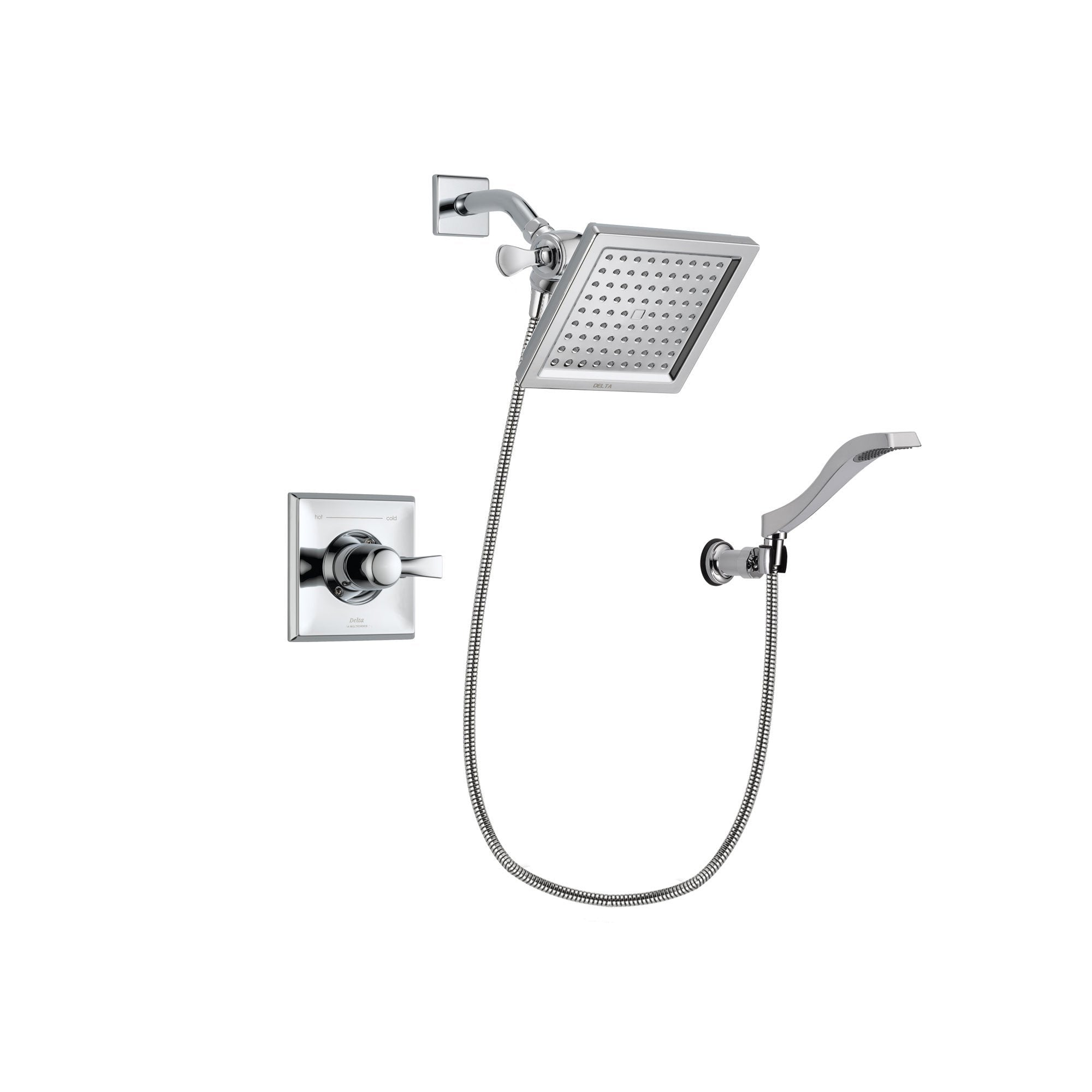 Delta Dryden Chrome Shower Faucet System with Shower Head & Hand Shower DSP0024V
