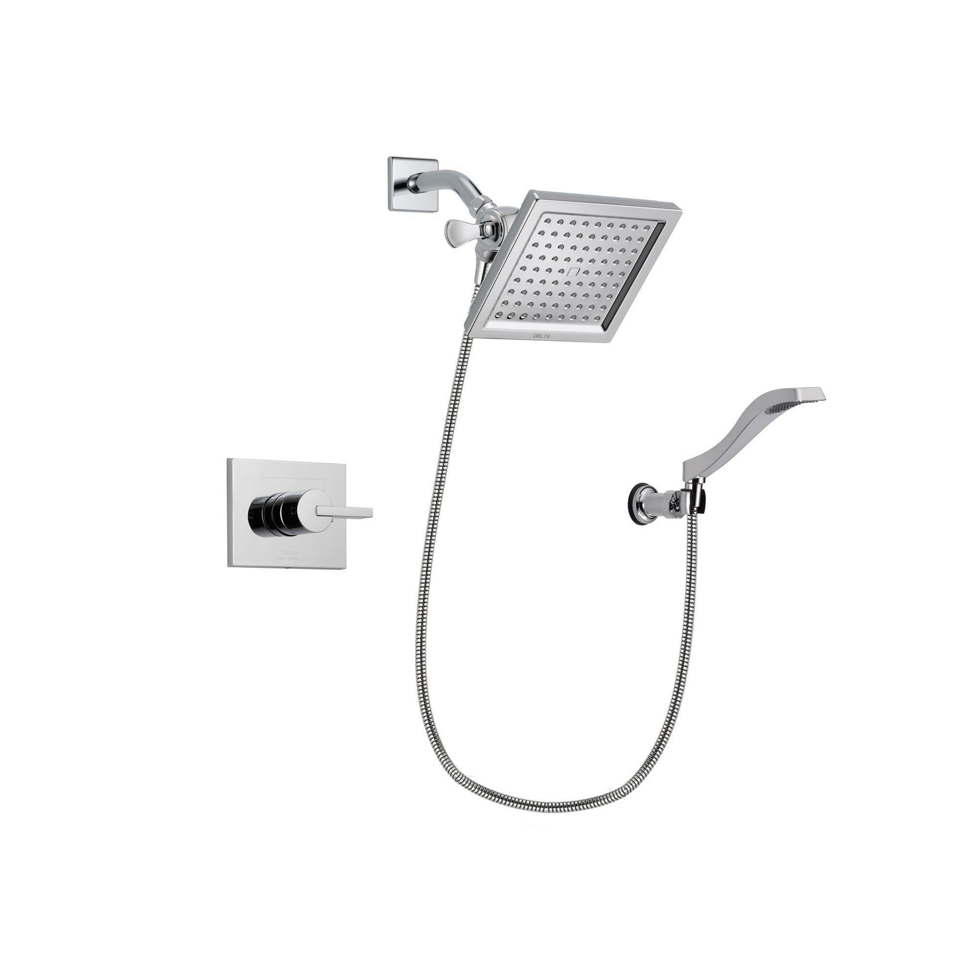 Delta Vero Chrome Shower Faucet System with Shower Head and Hand Shower DSP0025V