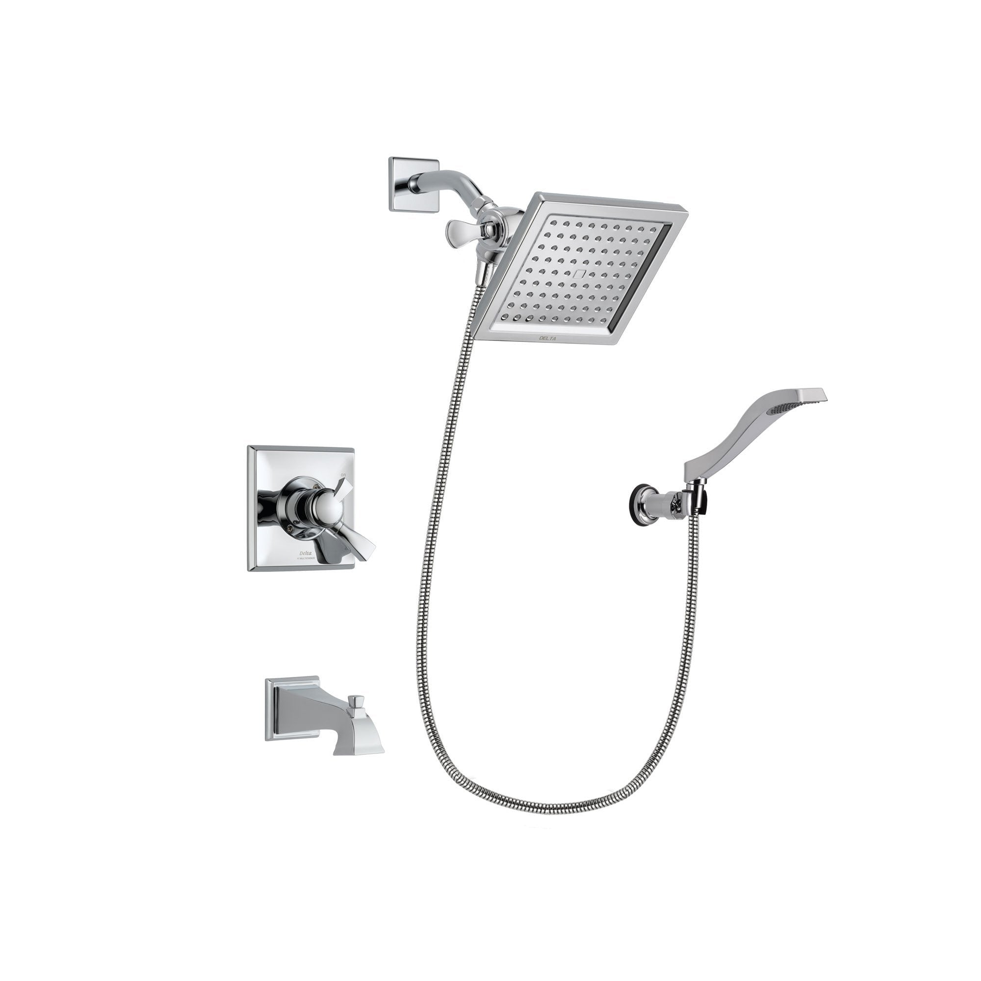 Delta Dryden Chrome Tub and Shower Faucet System with Hand Shower DSP0029V