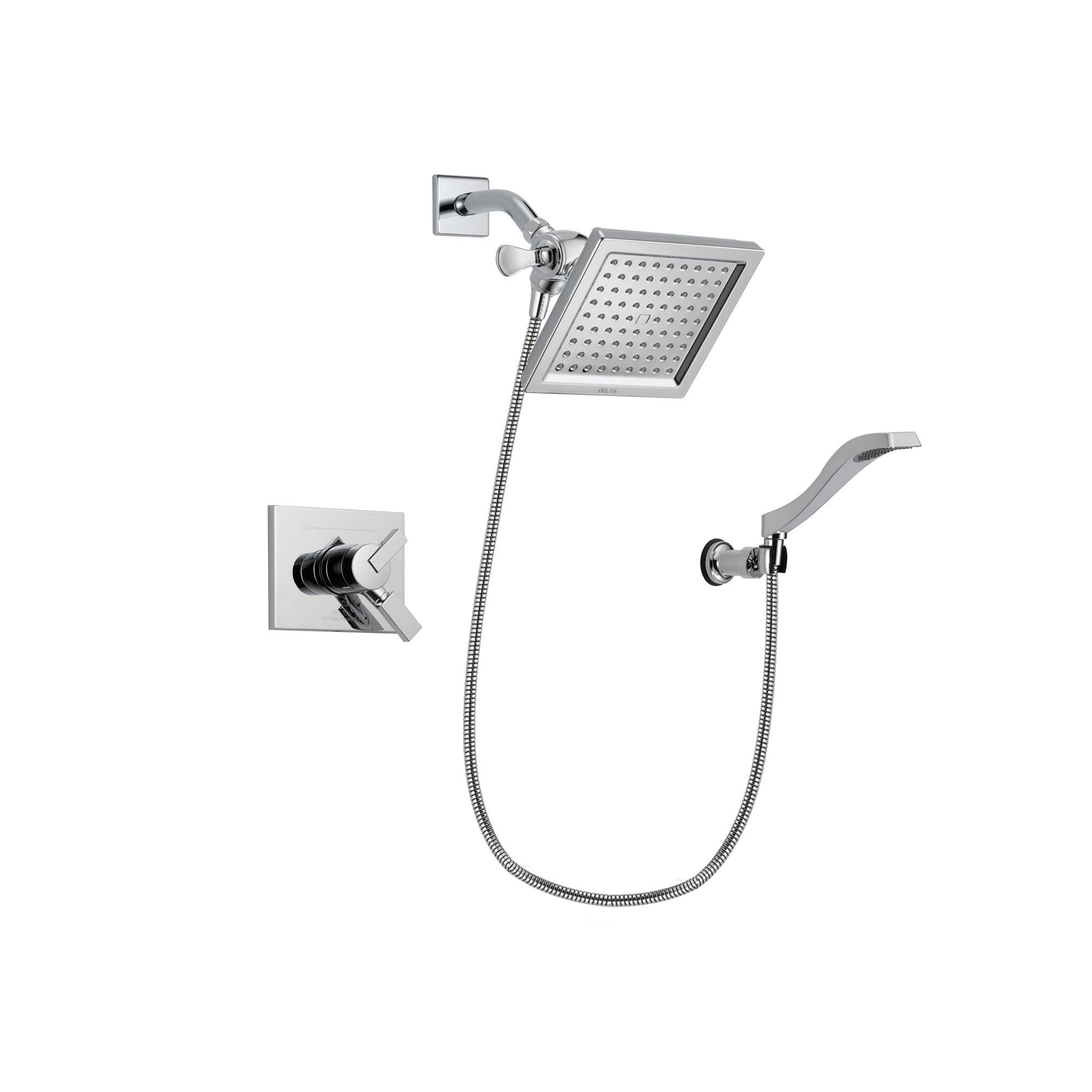 Delta Vero Chrome Shower Faucet System with Shower Head and Hand Shower DSP0032V