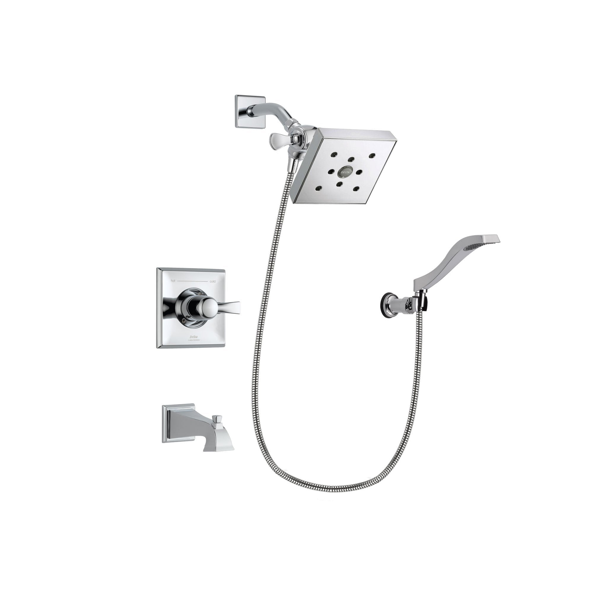 Delta Dryden Chrome Tub and Shower Faucet System Package w/ Hand Shower DSP0039V