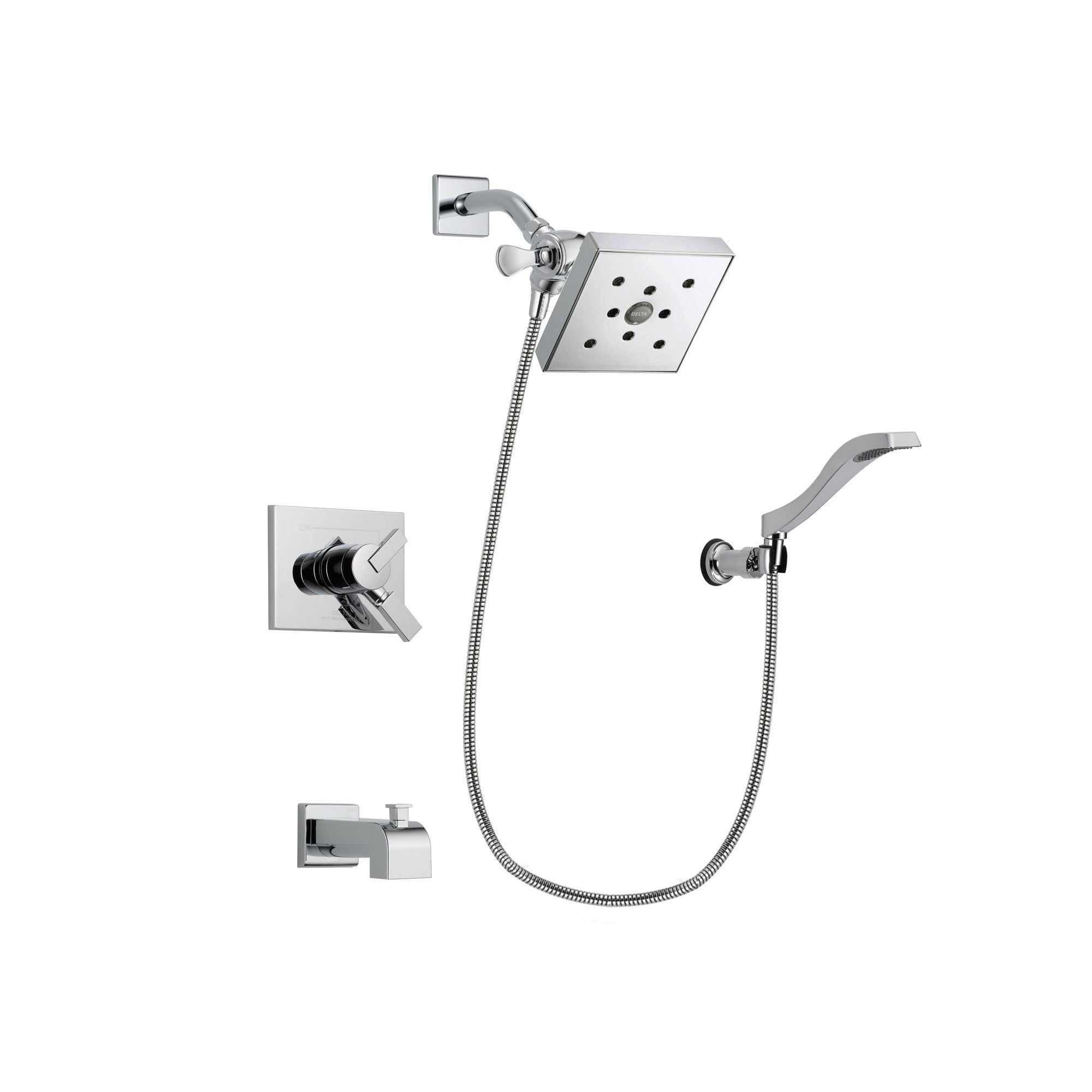 Delta Vero Chrome Tub and Shower Faucet System Package with Hand Shower DSP0047V