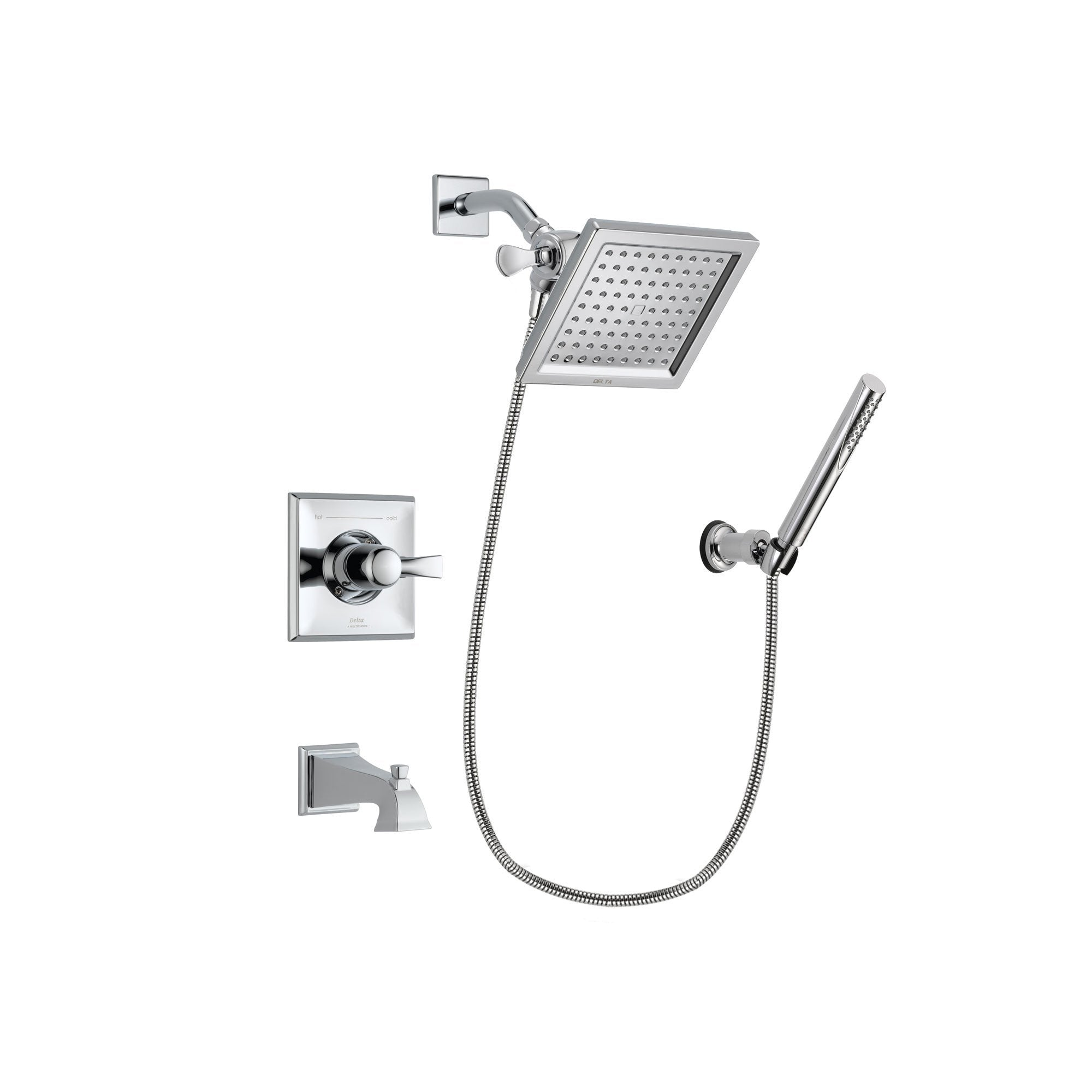 Delta Dryden Chrome Tub and Shower Faucet System Package w/ Hand Shower DSP0071V