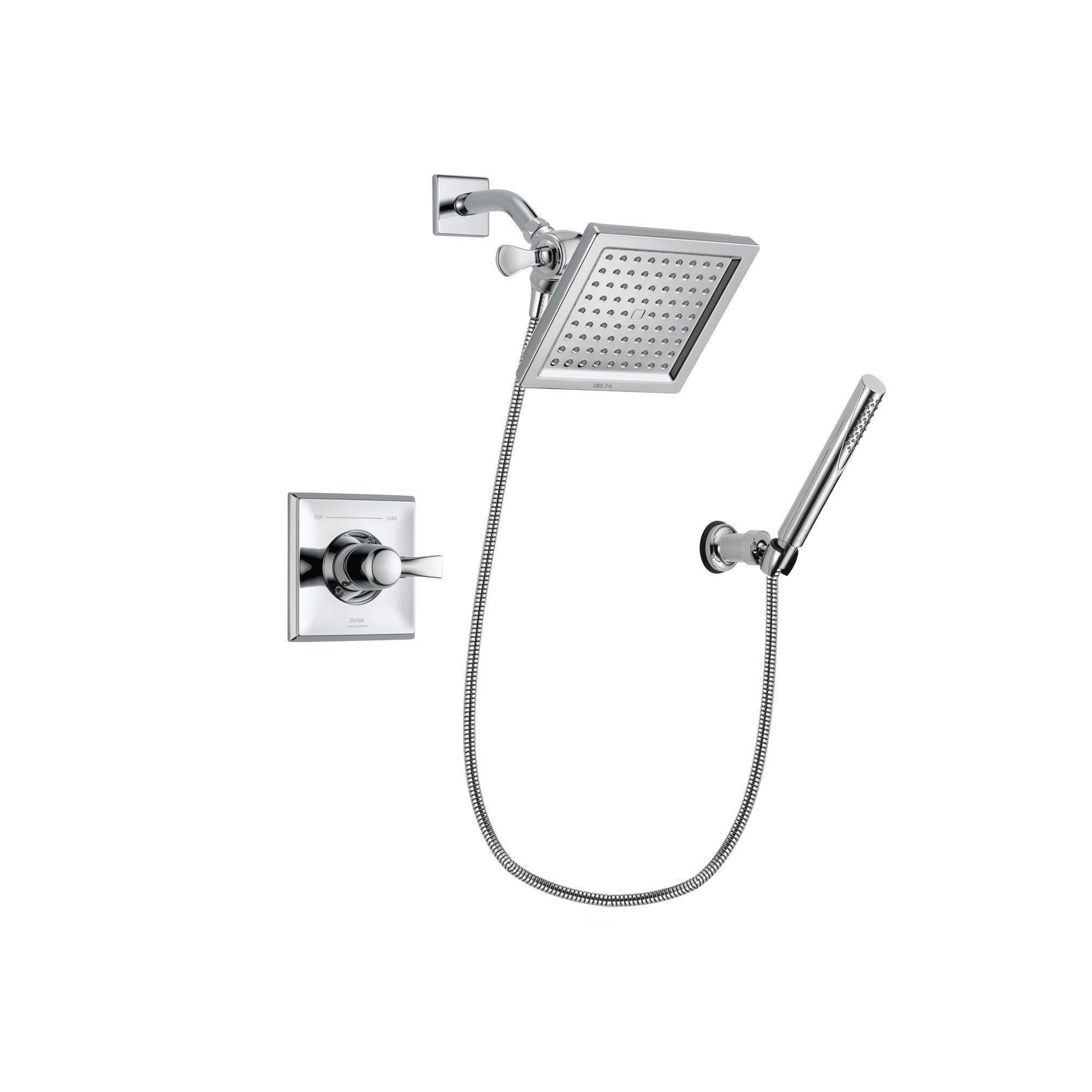 Delta Dryden Chrome Shower Faucet System with Shower Head & Hand Shower DSP0072V