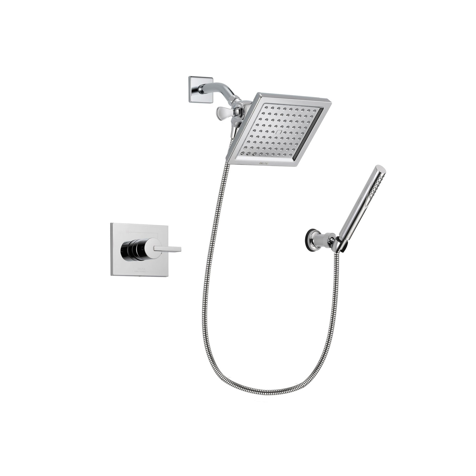 Delta Vero Chrome Shower Faucet System with Shower Head and Hand Shower DSP0073V