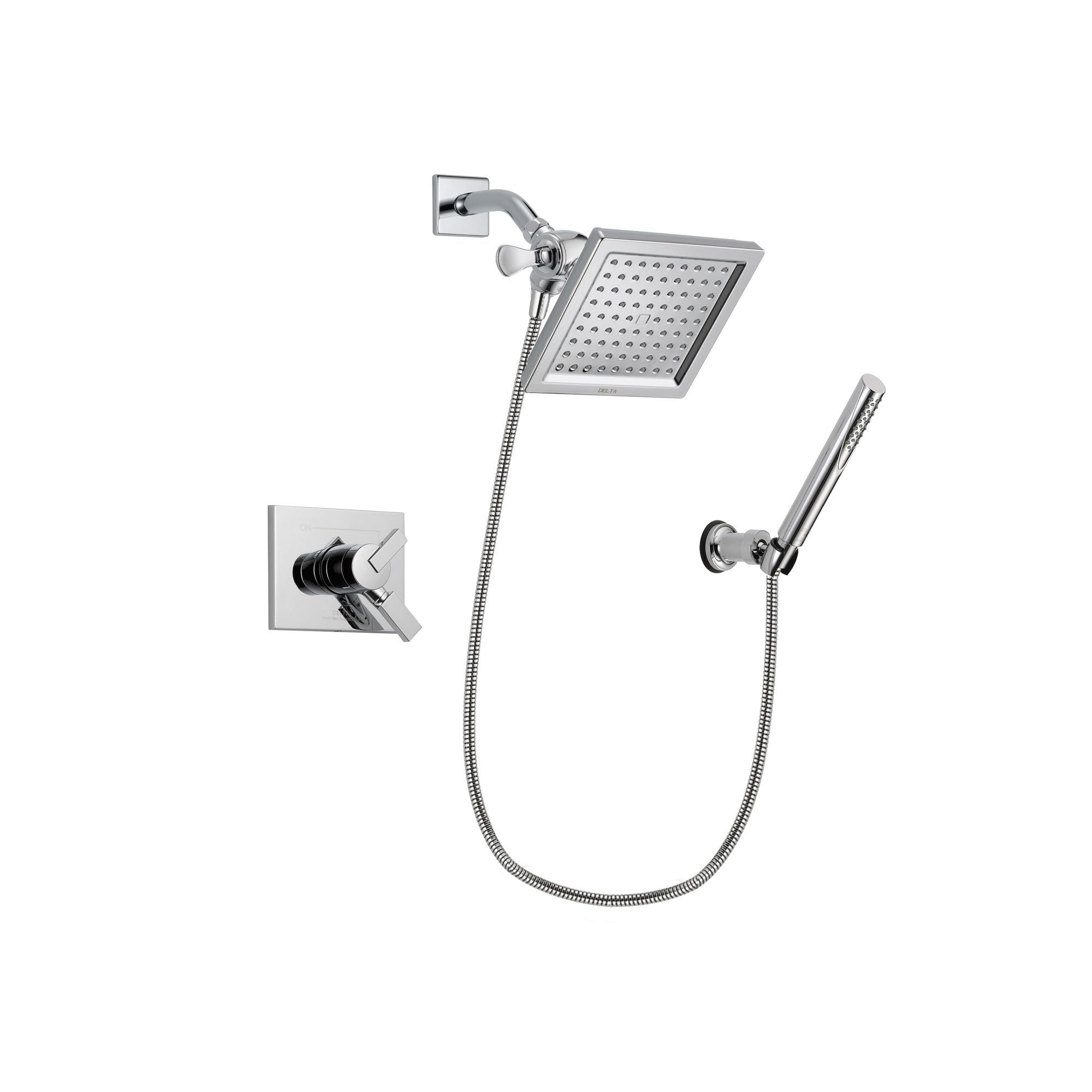 Delta Vero Chrome Shower Faucet System with Shower Head and Hand Shower DSP0080V