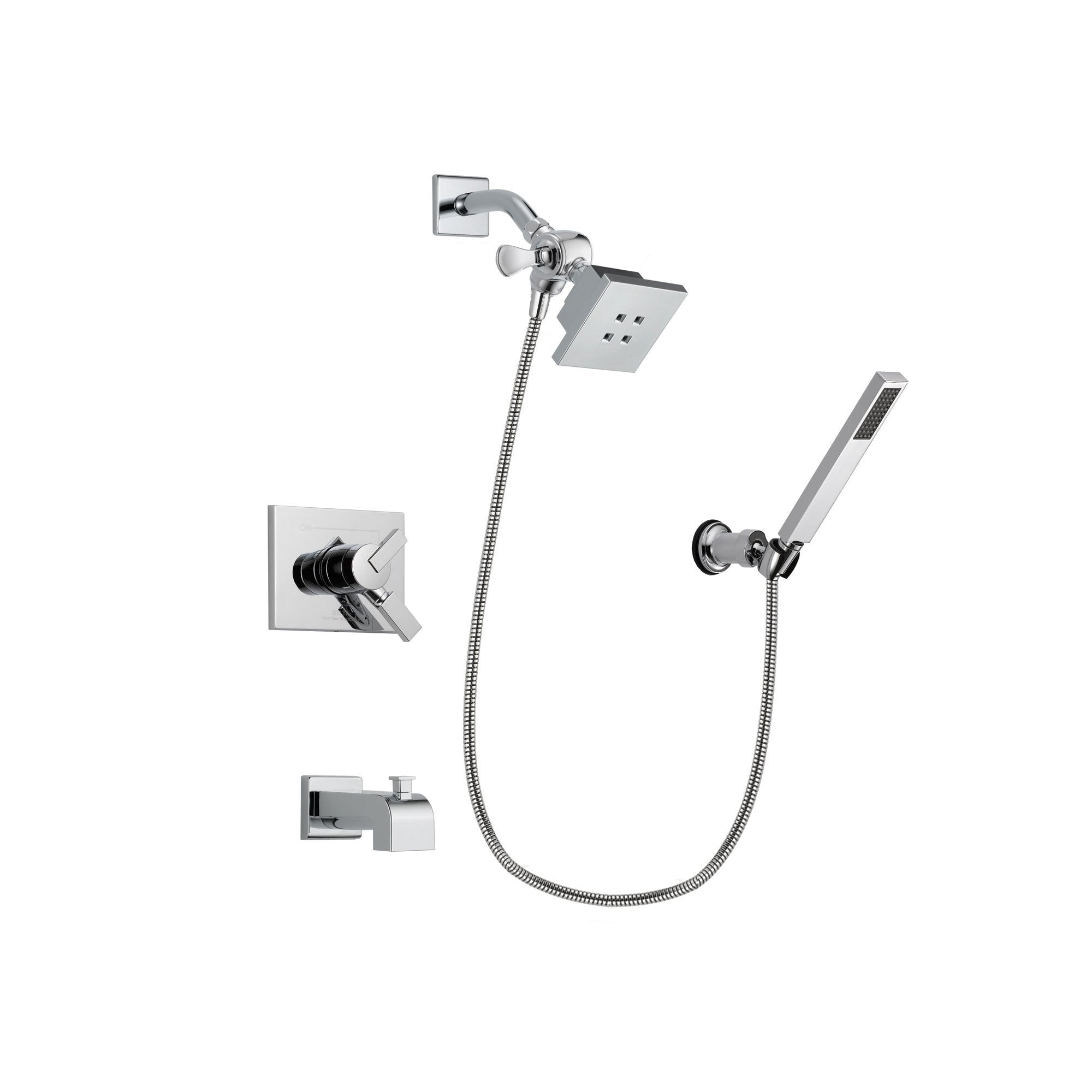 Delta Vero Chrome Finish Dual Control Tub and Shower Faucet System ...
