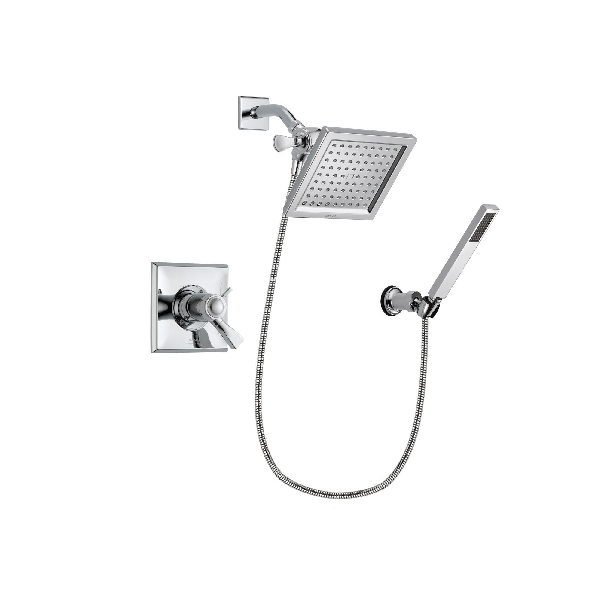 Delta Dryden Chrome Shower Faucet System w/ Shower Head and Hand Shower DSP0113V