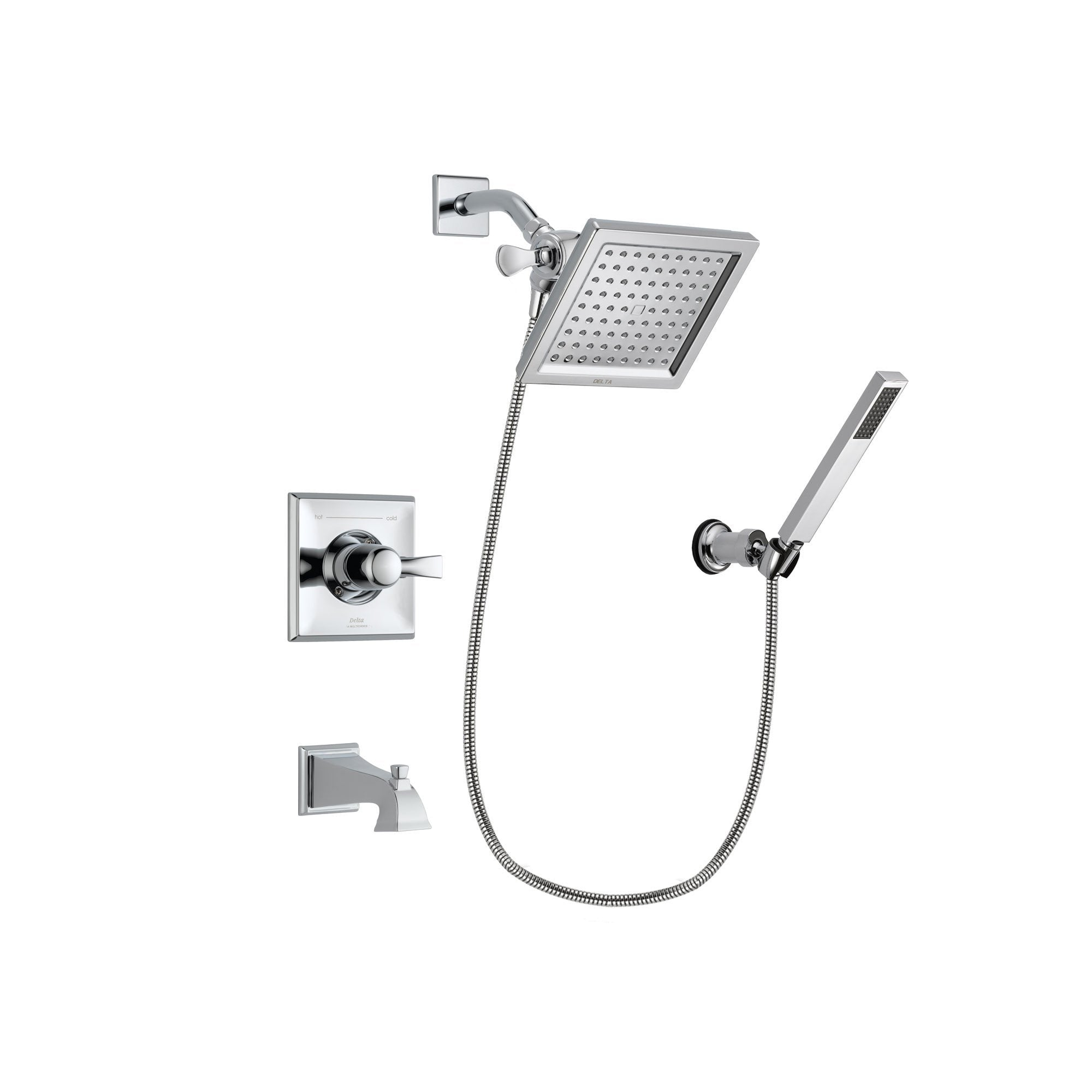 Delta Dryden Chrome Tub and Shower Faucet System Package w/ Hand Shower DSP0119V