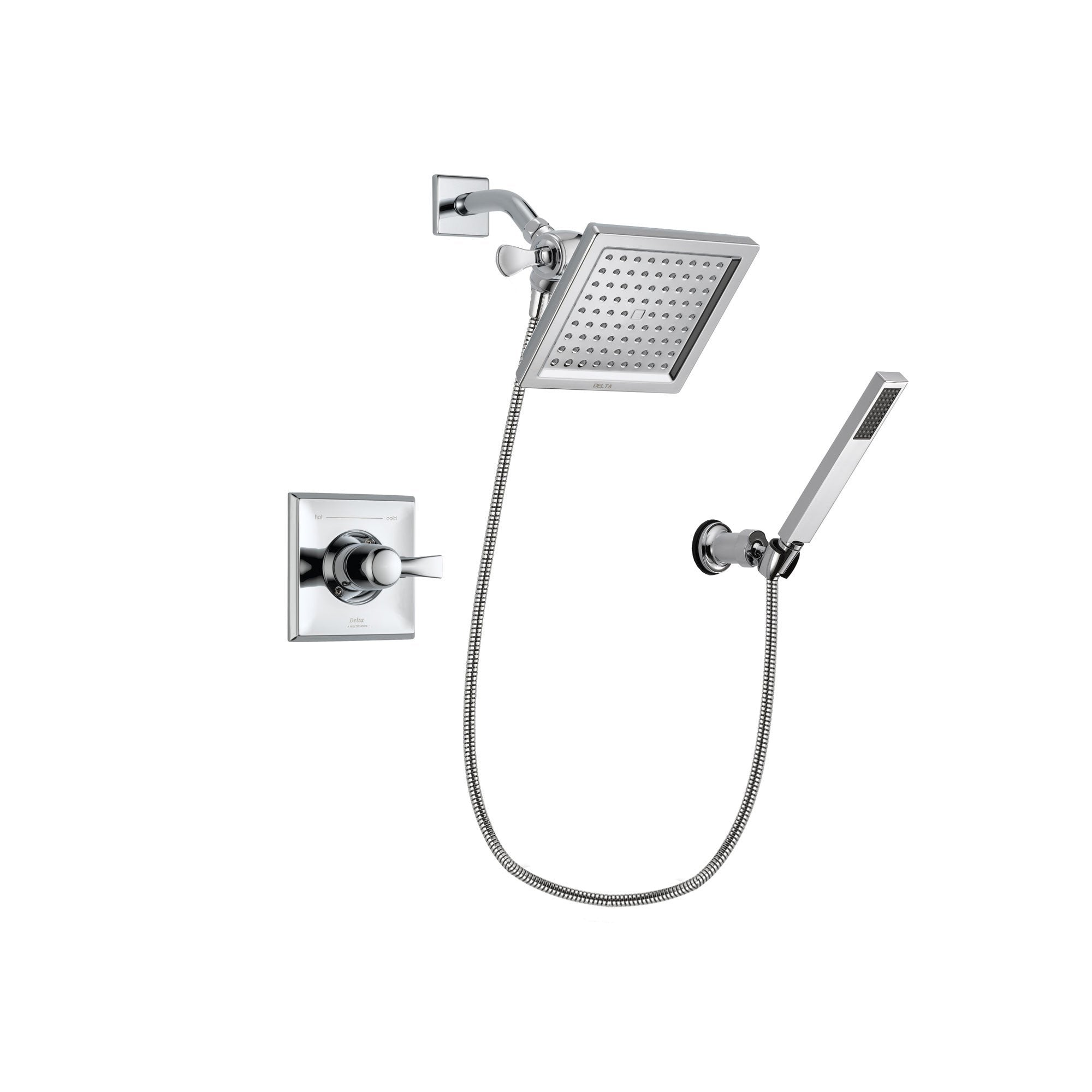 Delta Dryden Chrome Shower Faucet System with Shower Head & Hand Shower DSP0120V