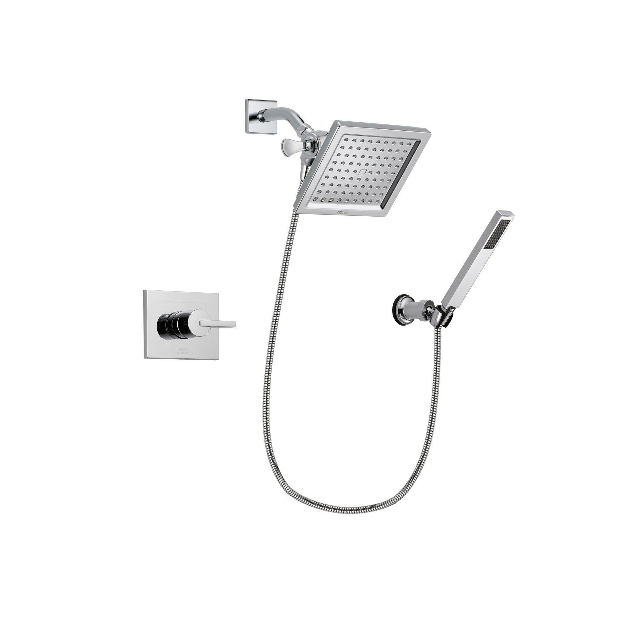 Delta Vero Chrome Shower Faucet System with Shower Head and Hand Shower DSP0121V