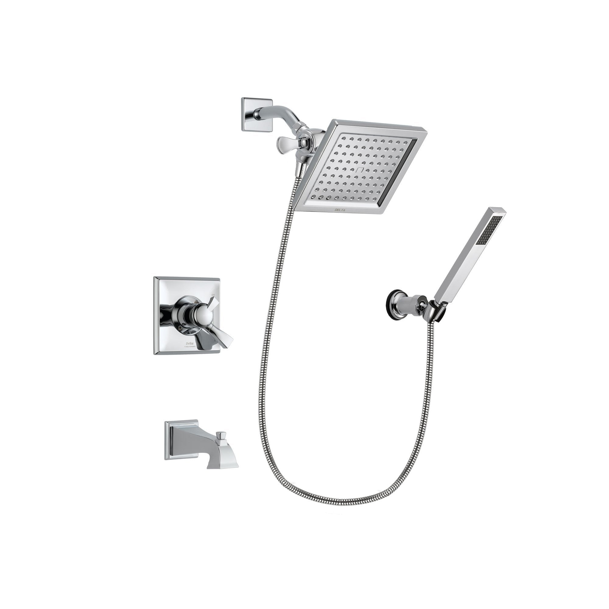 Delta Dryden Chrome Tub and Shower Faucet System with Hand Shower DSP0125V