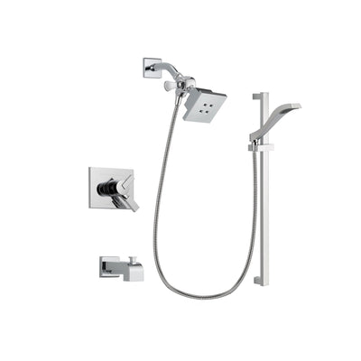 Delta Vero Chrome Tub and Shower Faucet System Package with Hand Shower DSP0159V