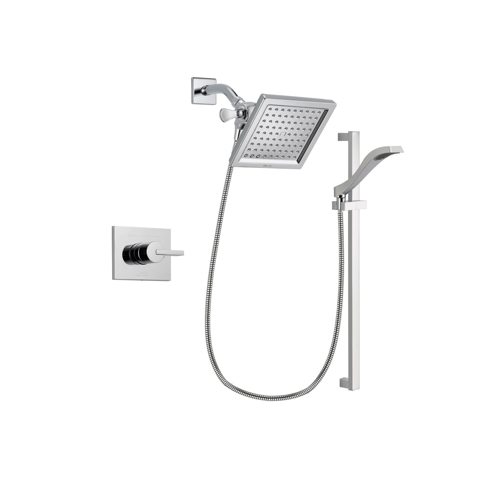 Delta Vero Chrome Shower Faucet System with Shower Head and Hand Shower DSP0169V