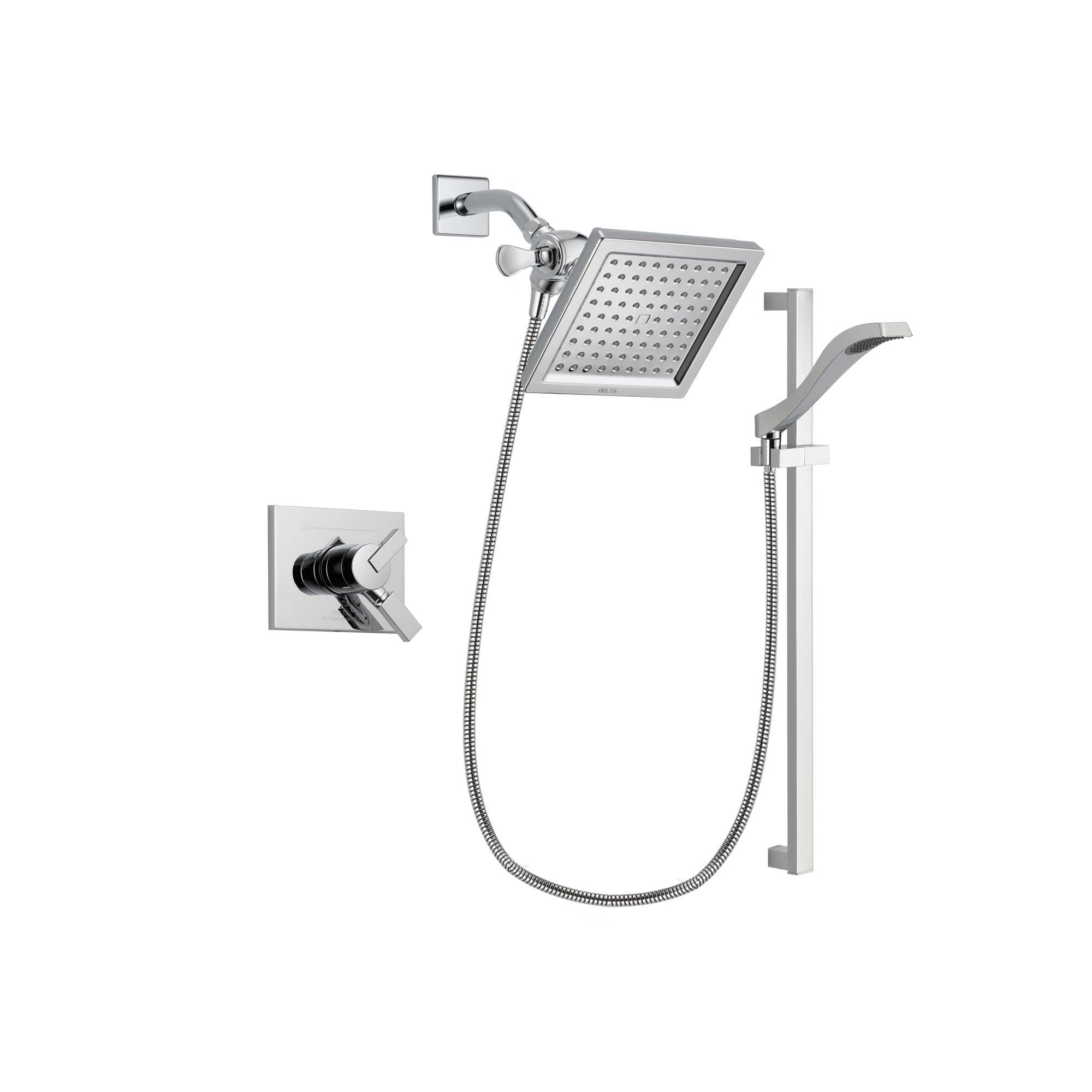 Delta Vero Chrome Shower Faucet System with Shower Head and Hand Shower DSP0176V
