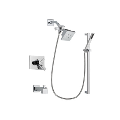 Delta Vero Chrome Tub and Shower Faucet System Package with Hand Shower DSP0207V