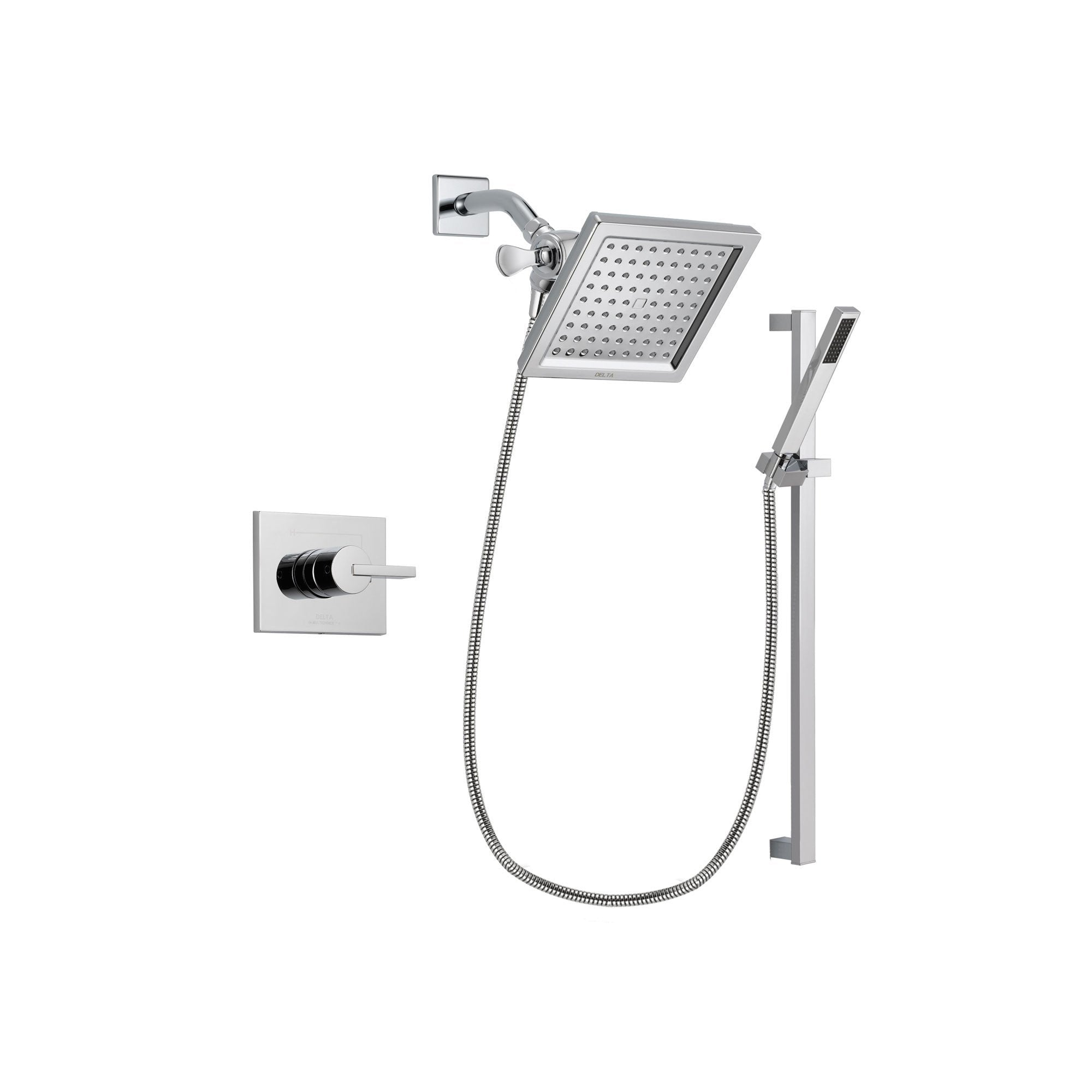 Delta Vero Chrome Shower Faucet System with Shower Head and Hand Shower DSP0217V