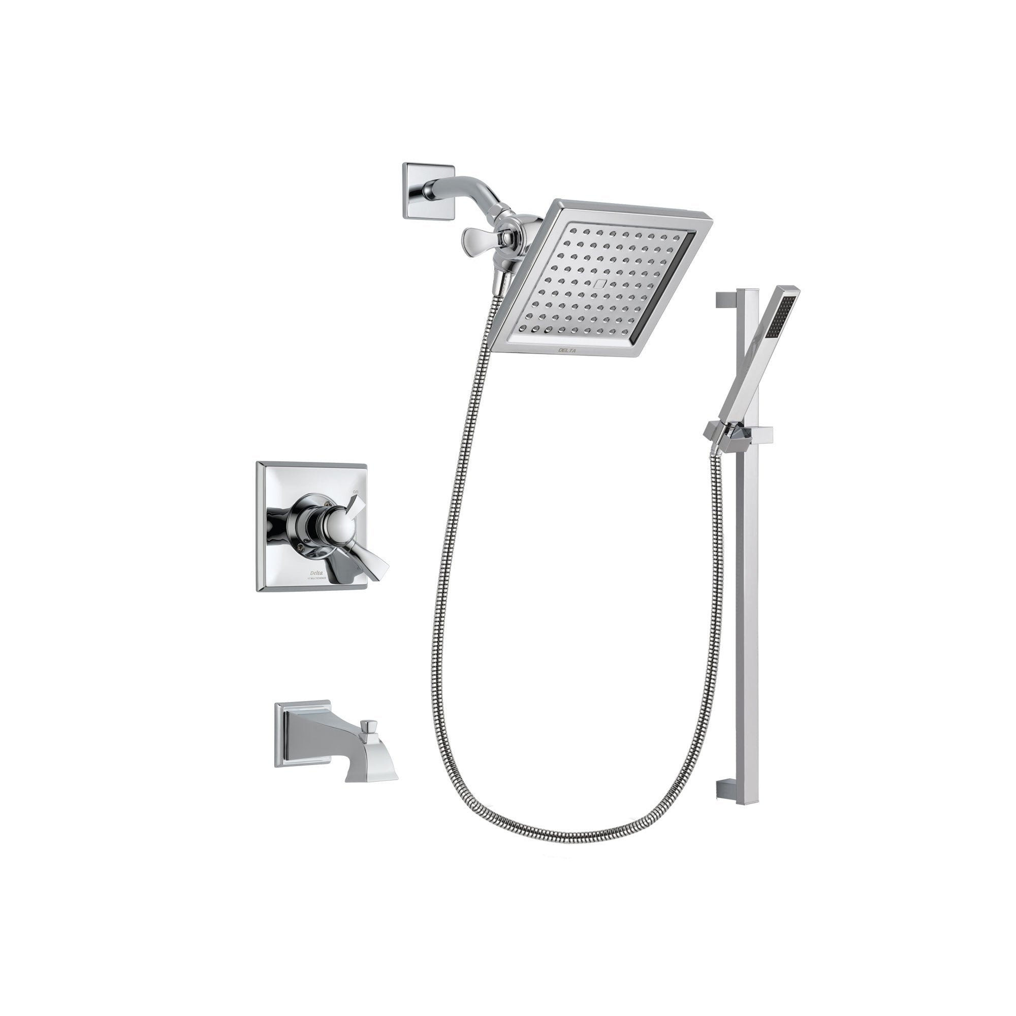 Delta Dryden Chrome Tub and Shower Faucet System with Hand Shower DSP0221V