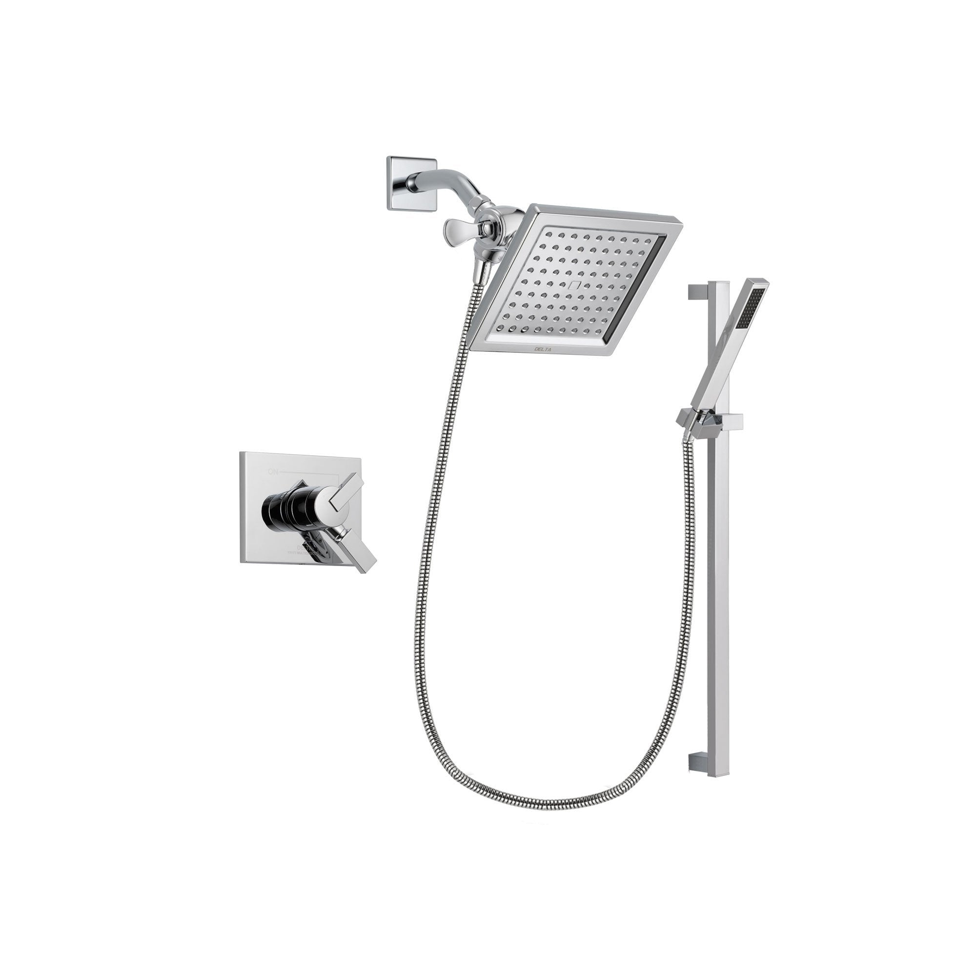 Delta Vero Chrome Shower Faucet System with Shower Head and Hand Shower DSP0224V