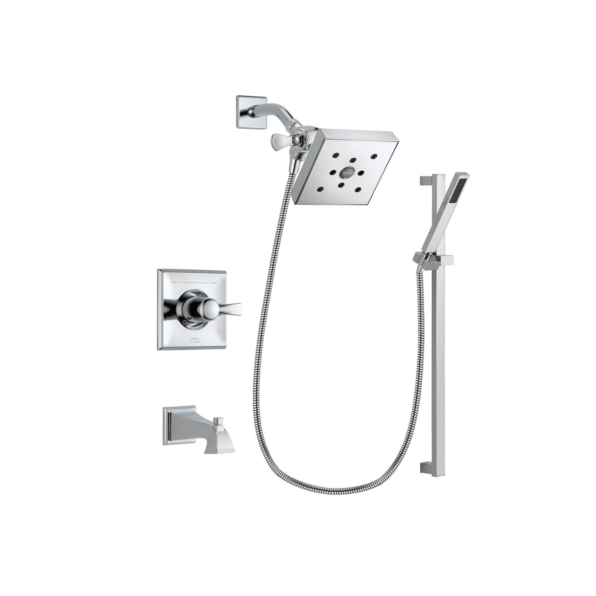 Delta Dryden Chrome Tub and Shower Faucet System Package w/ Hand Shower DSP0231V