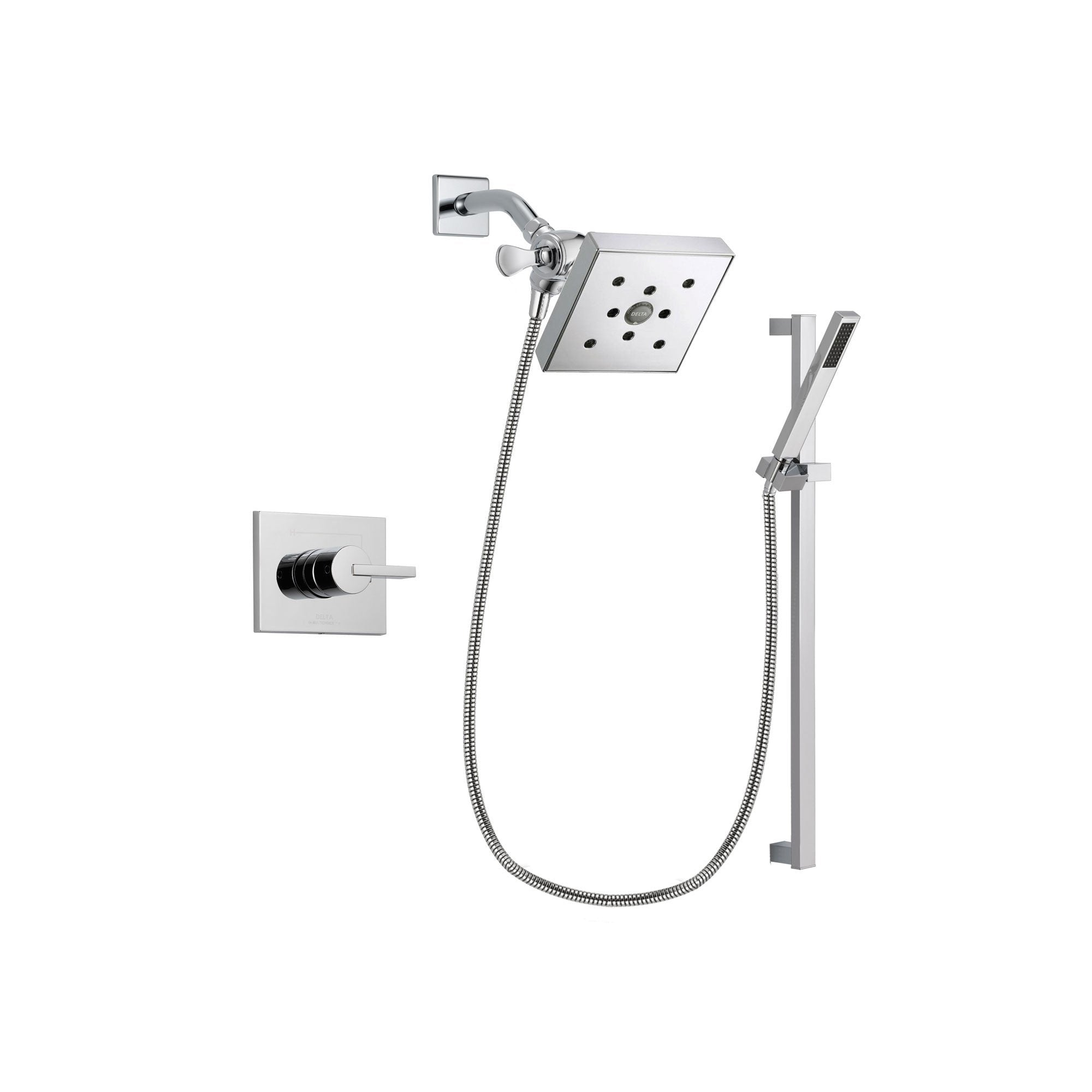 Delta Vero Chrome Shower Faucet System with Shower Head and Hand Shower DSP0233V