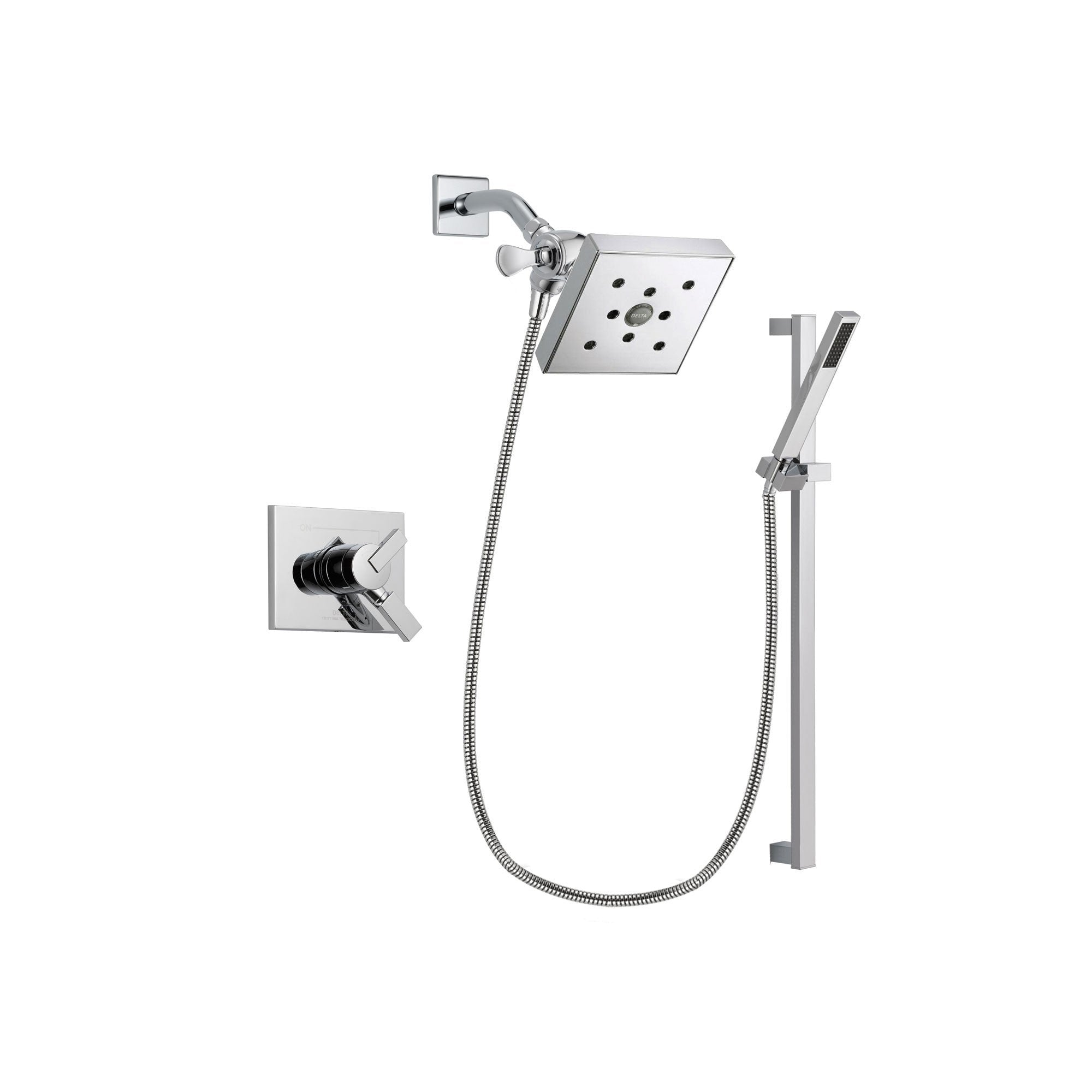 Delta Vero Chrome Shower Faucet System with Shower Head and Hand Shower DSP0240V