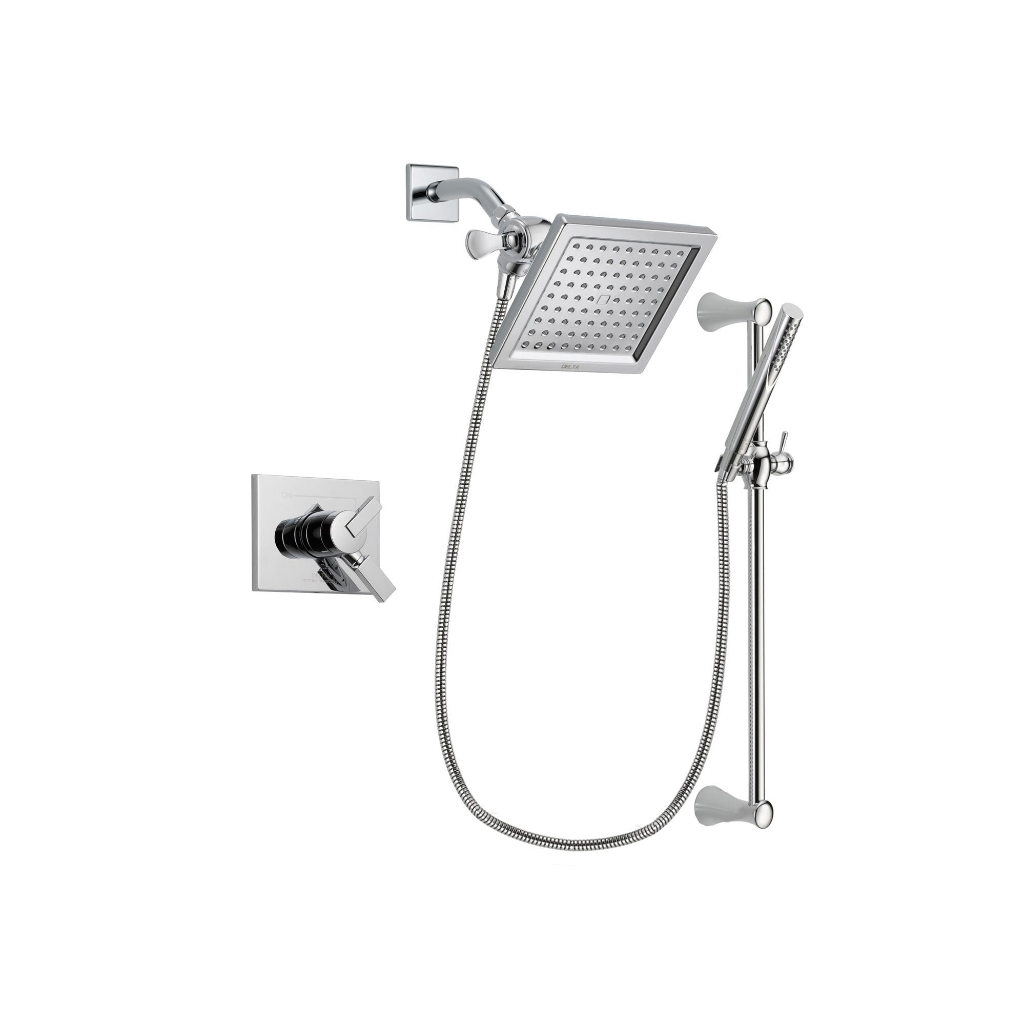Delta Vero Chrome Shower Faucet System with Shower Head and Hand Shower DSP0272V