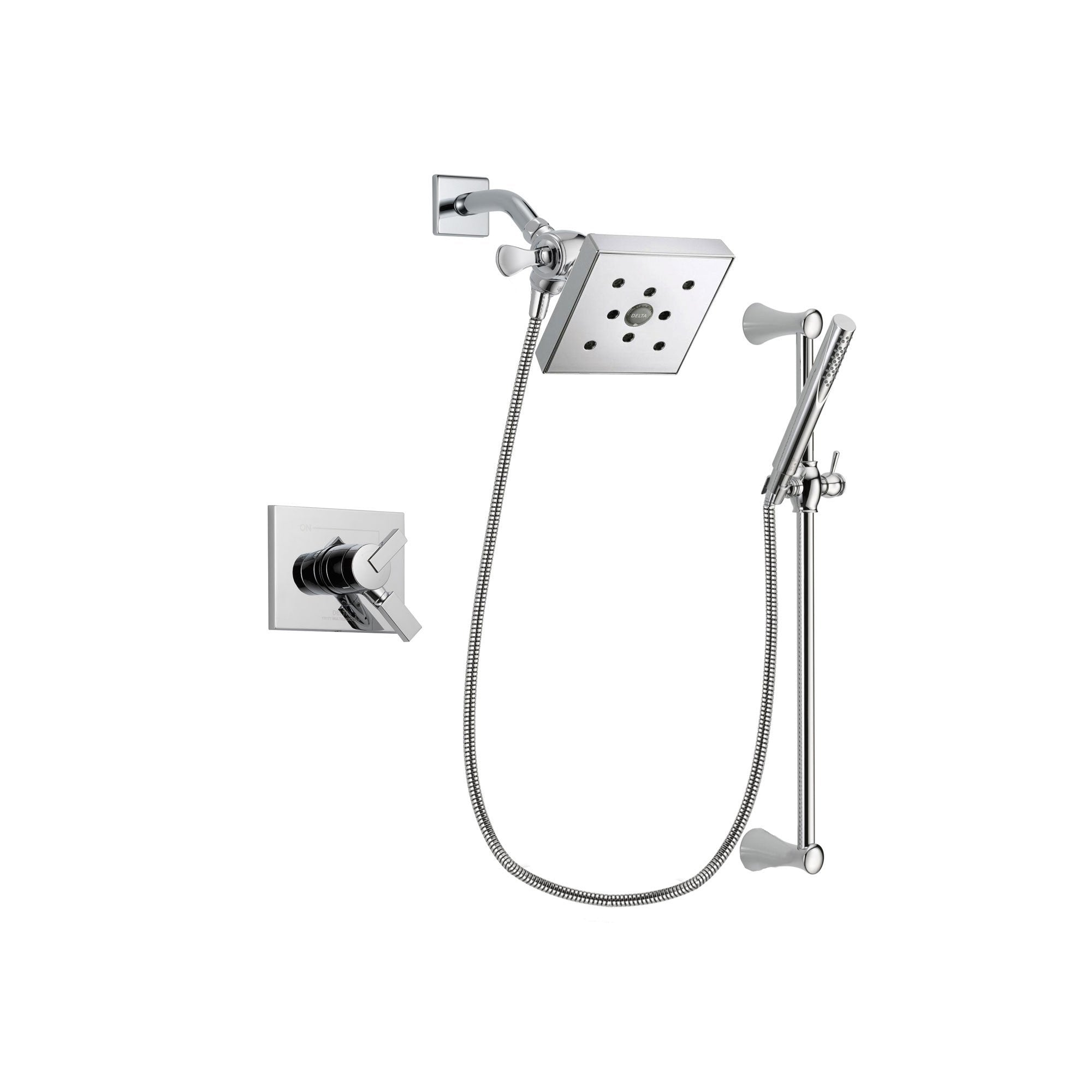 Delta Vero Chrome Shower Faucet System with Shower Head and Hand Shower DSP0288V