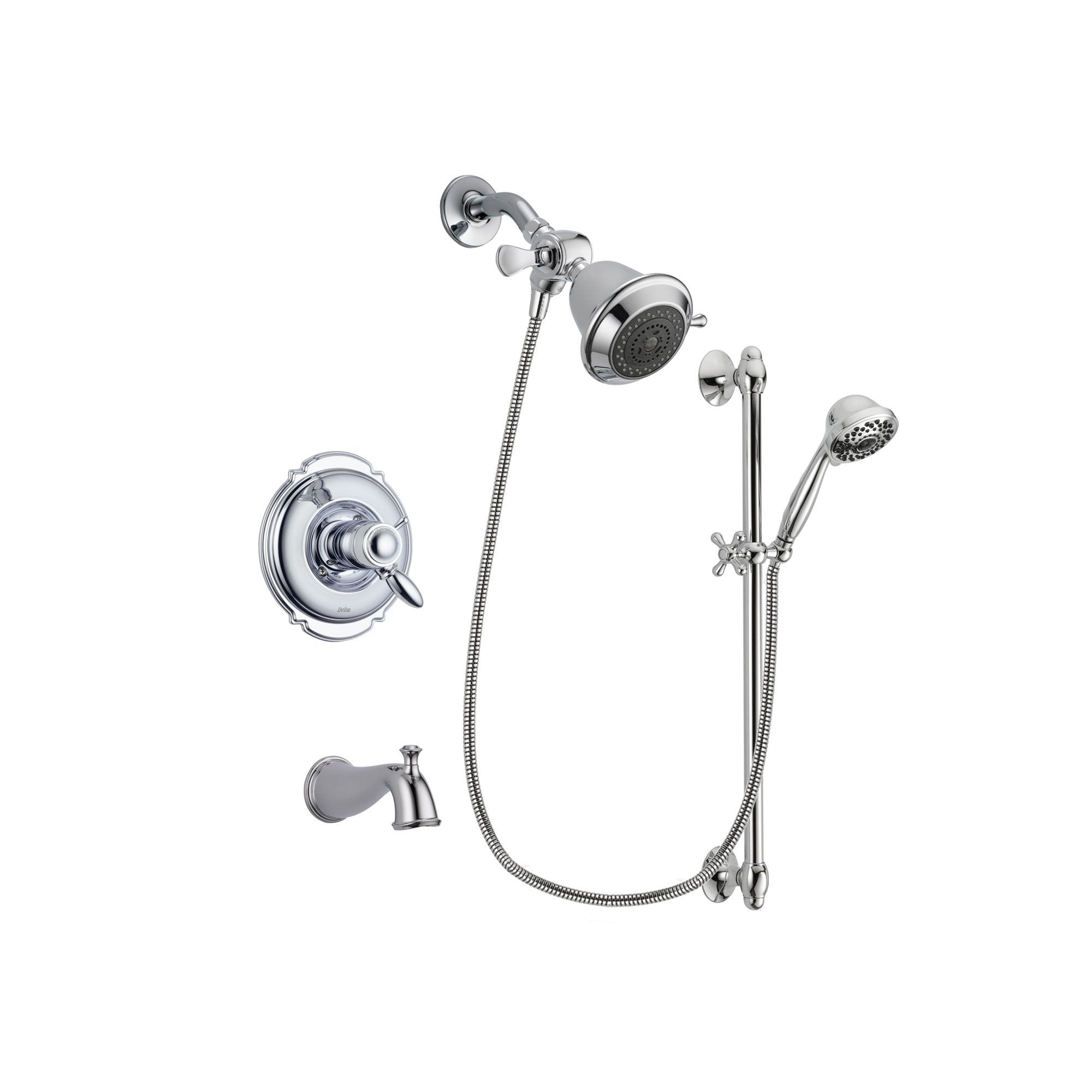Delta Victorian Chrome Tub and Shower Faucet System with Hand Shower DSP0563V