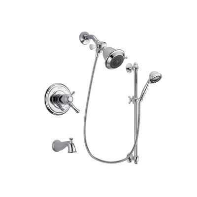 Delta Cassidy Chrome Tub and Shower Faucet System with Hand Shower DSP0569V