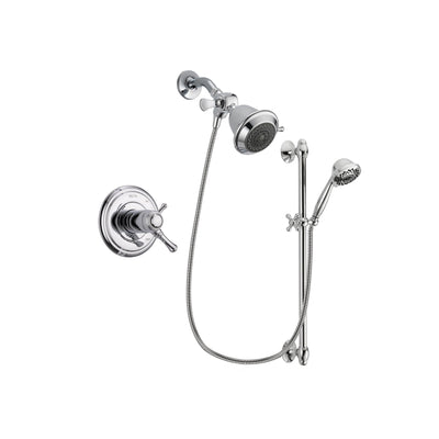 Delta Cassidy Chrome Shower Faucet System w/ Showerhead and Hand Shower DSP0570V
