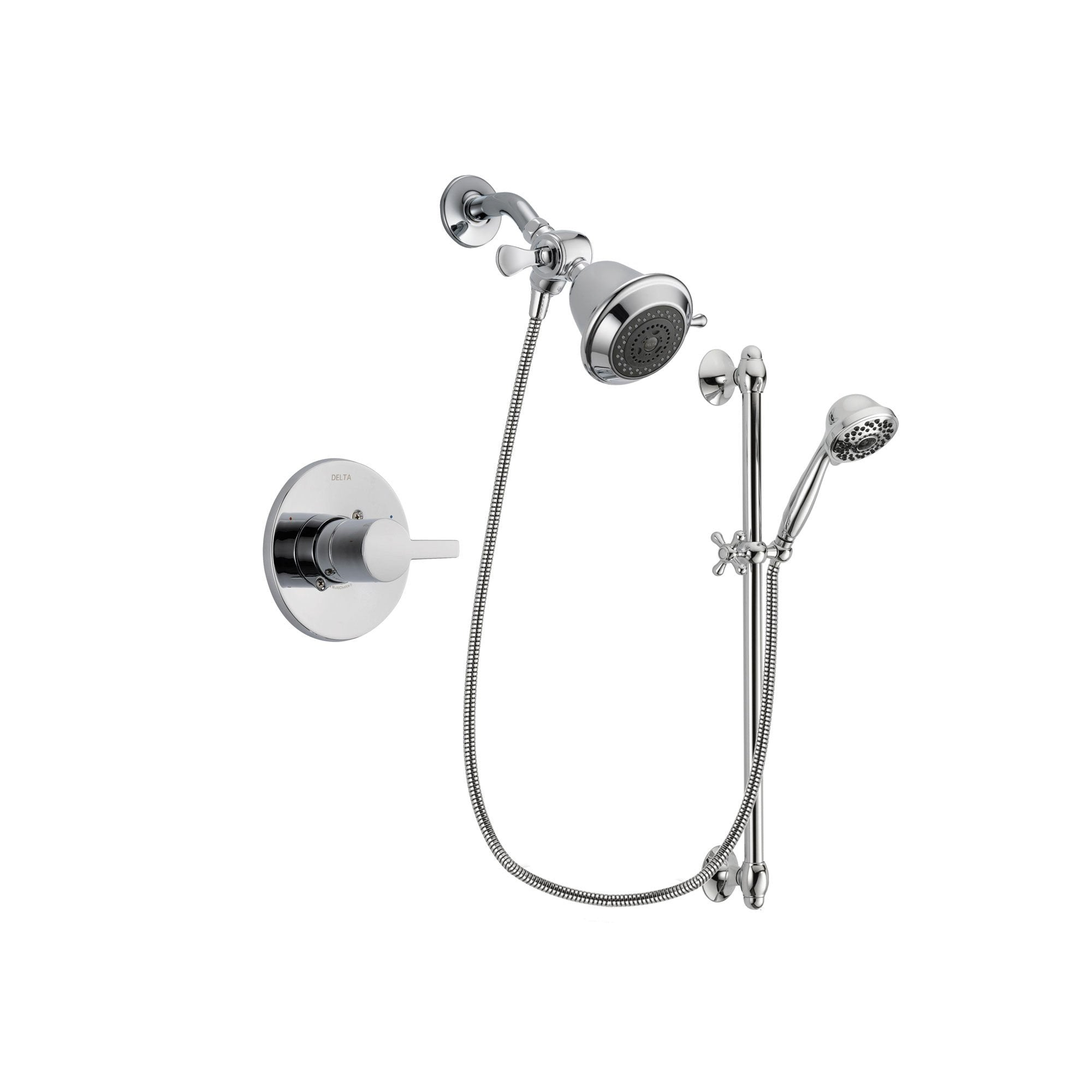 Delta Compel Chrome Shower Faucet System w/ Shower Head and Hand Shower DSP0576V