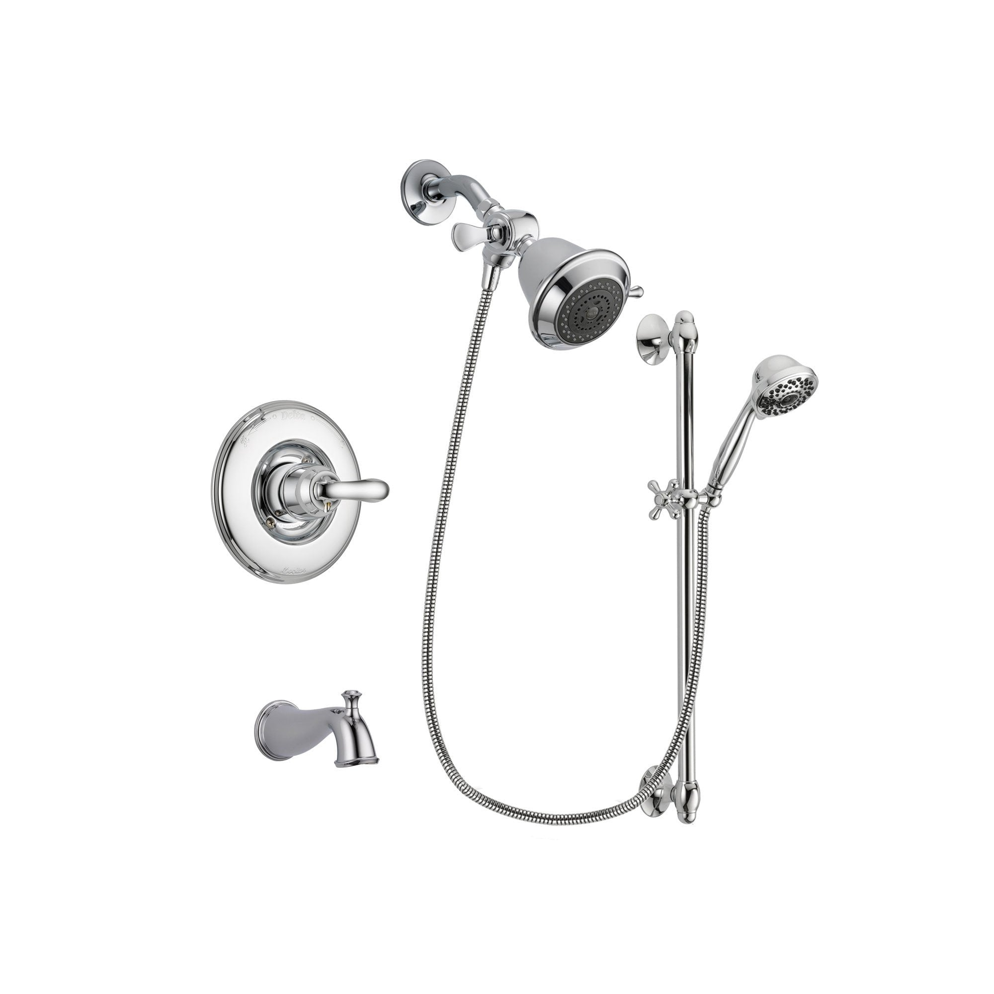 Delta Linden Chrome Tub and Shower Faucet System with Hand Shower DSP0579V