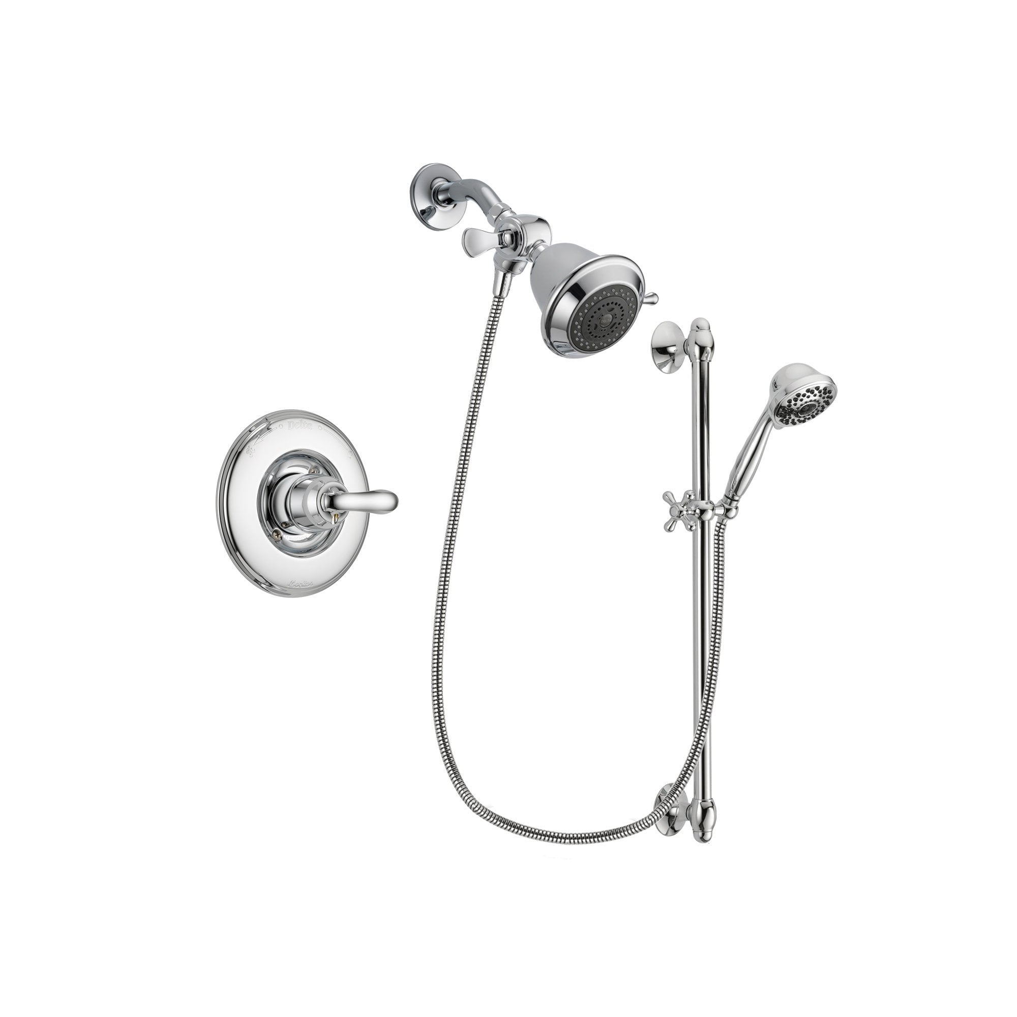Delta Linden Chrome Shower Faucet System w/ Shower Head and Hand Shower DSP0580V