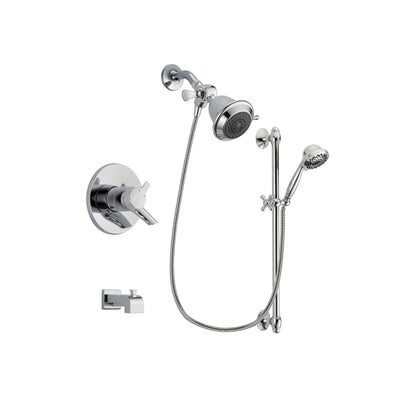 Delta Compel Chrome Tub and Shower Faucet System with Hand Shower DSP0585V